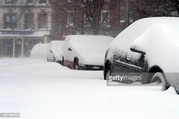 nyc blizzard - stranded stock photos and pictures