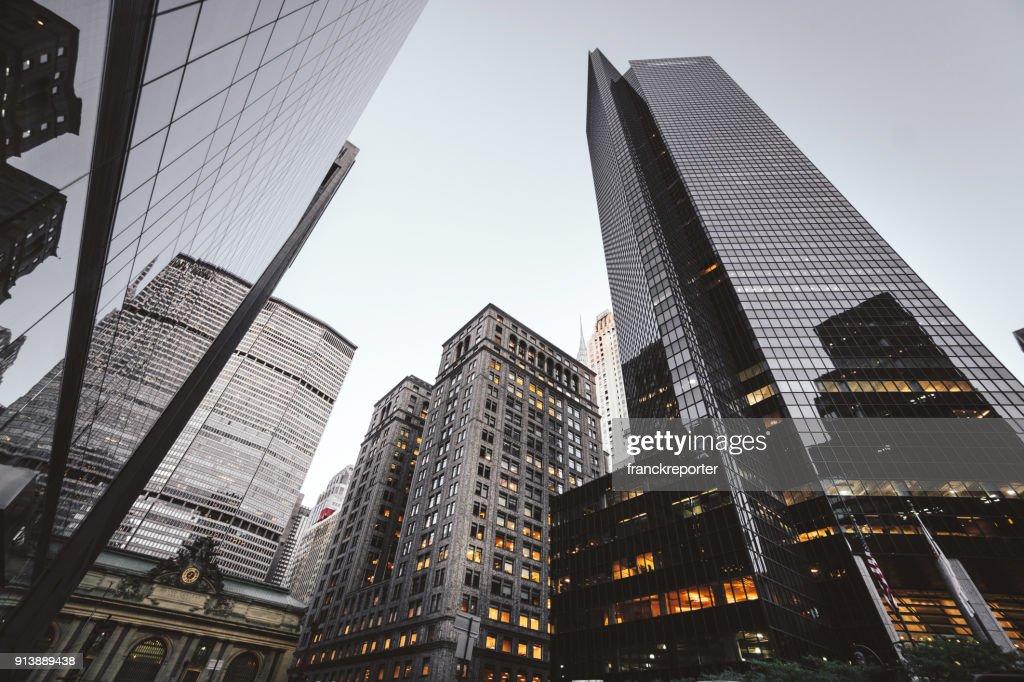 die Innenstadt von New York Wolkenkratzer : Stock-Foto