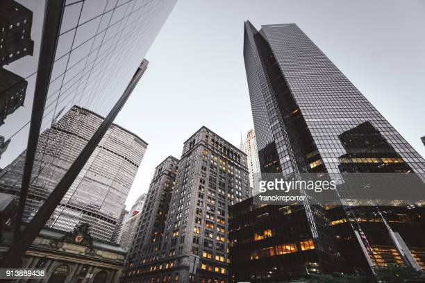 nyc downtown skyscrapers - skyscraper stock pictures, royalty-free photos & images