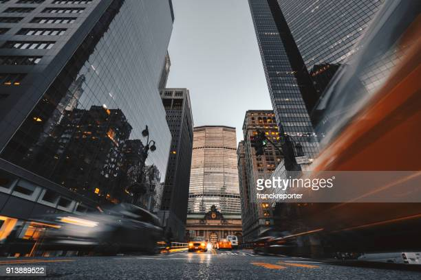 nyc downtown skyscrapers - low angle view stock pictures, royalty-free photos & images