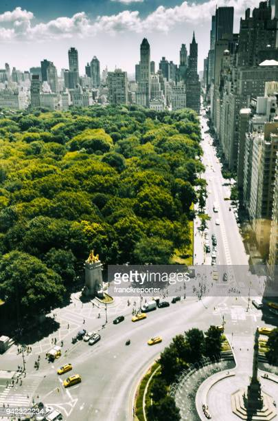nyc skyline with central park - central park stock pictures, royalty-free photos & images