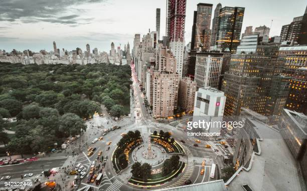 nyc skyline with central park