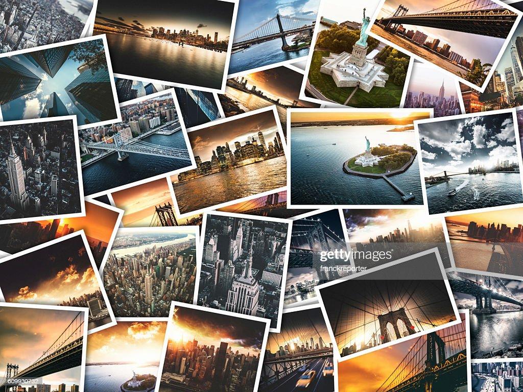 nyc imagens de viagens feitas em polaroid papel  : Foto de stock