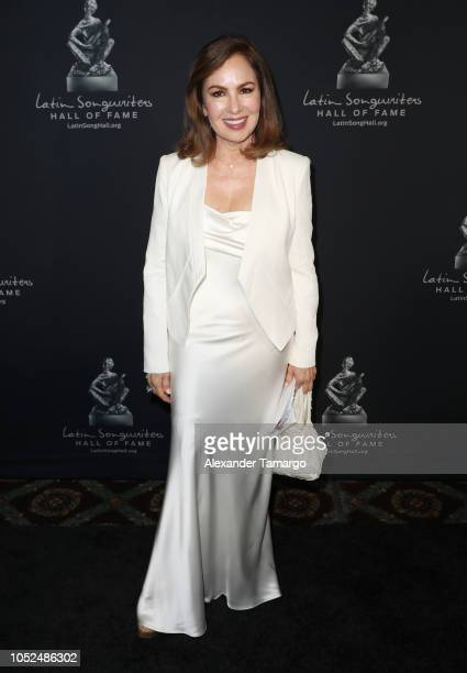 Nydia Caro is seen at the 6th Annual Latin Songwriters Hall Of Fame La Musa Awards at James L Knight Center on October 18 2018 in Miami Florida