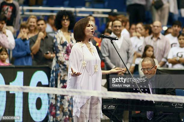 Nydia Caro performs as part of the Monica Puig Invitational at Coliseo Jose M Agrelot on December 15 2016 in San Juan Puerto Rico