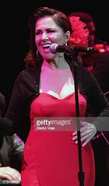 Nydia Caro performs at Centro de Bellas Artes on May 31 2015 in San Juan Puerto Rico