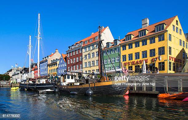 Nyhavn (New Harbour), Canal and Entertainment District in Copenhagen, Denmark