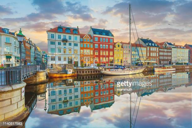nyhavn, copenhagen, denmark - copenhagen stock pictures, royalty-free photos & images