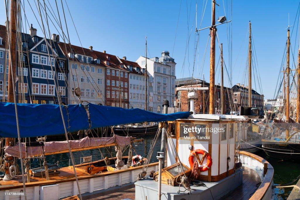 Nyhavn, Copenhagen, Denmark : Foto stock