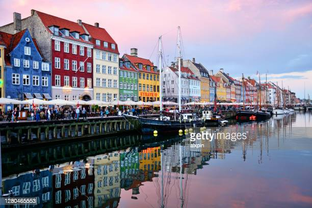 nyhavn copenhagen, denmark - copenhagen stock pictures, royalty-free photos & images