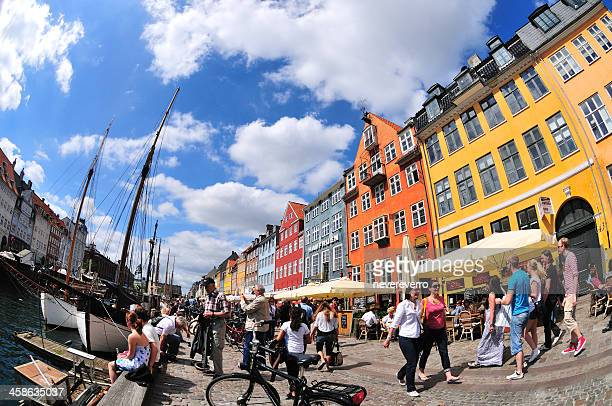 nyhavn copenhagen - nyhavn stock pictures, royalty-free photos & images