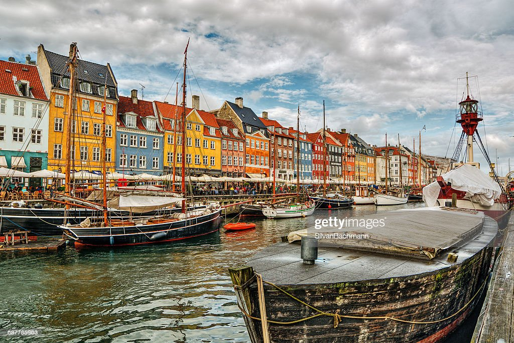 Nyhavn harbor, Copenhagen, Denmark : Stock Photo