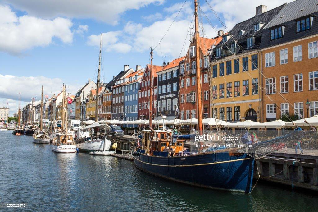 Nyhavn Harbor in Copenhagen : Stock Photo