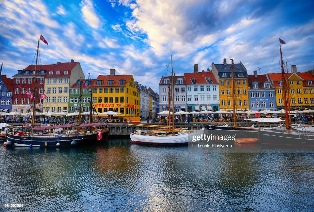 Nyhavn in Copenhagen, Denmark : Stock Photo