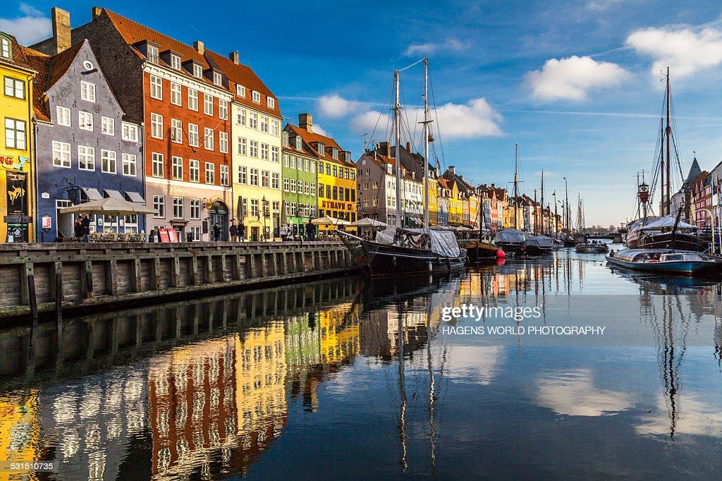 Nyhavn in Copenhagen : Stock Photo