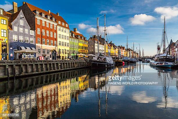 nyhavn in copenhagen - denmark stock pictures, royalty-free photos & images