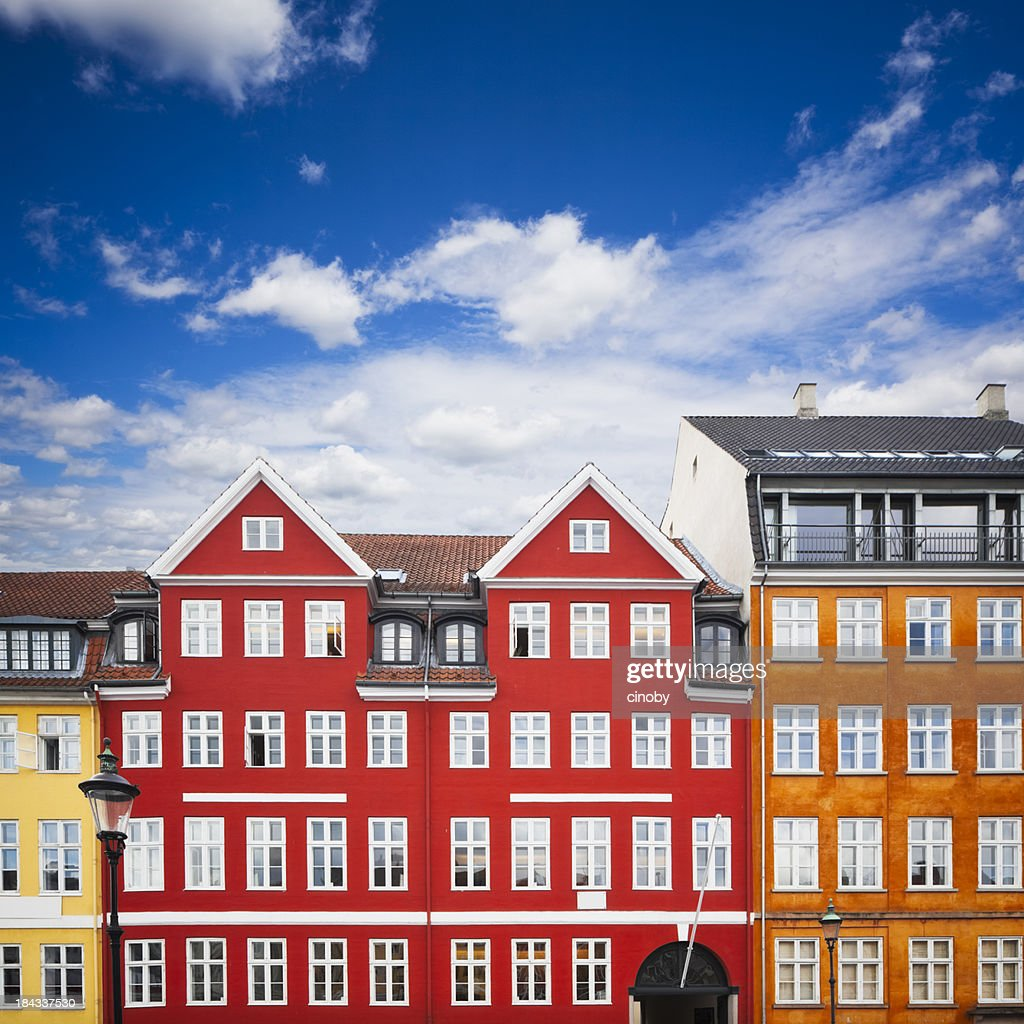 Nyhavn Number 18 / 20 - Hans Christian Andersen Home : Stock Photo