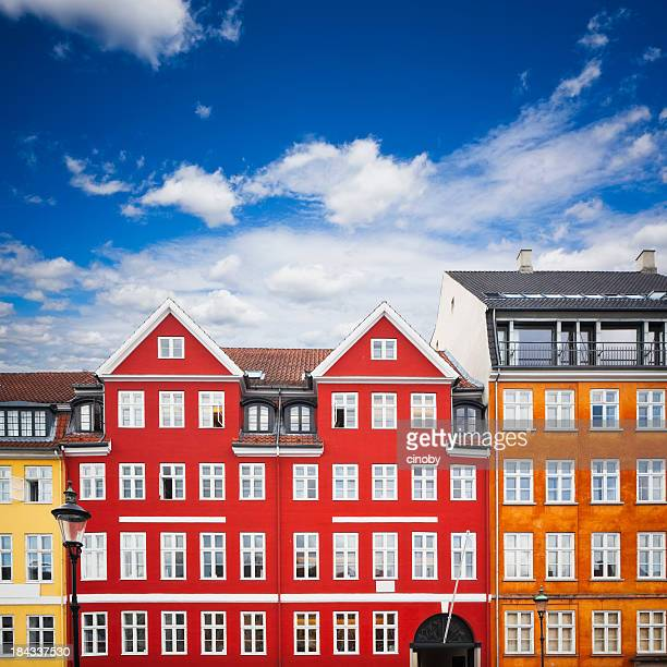 nyhavn number 18 / 20 - hans christian andersen home - nyhavn stock pictures, royalty-free photos & images