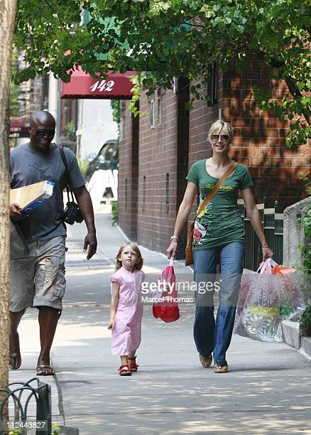 Heidi Klum and daughter Leni sighting walking with husband Seal in the west village