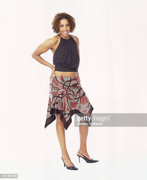 Nykesha Sales of the Connecticut Sun poses for a WNBA Portrait at Westin Hotel on August 4 2004 in New York New York NOTE TO USER User expressly...