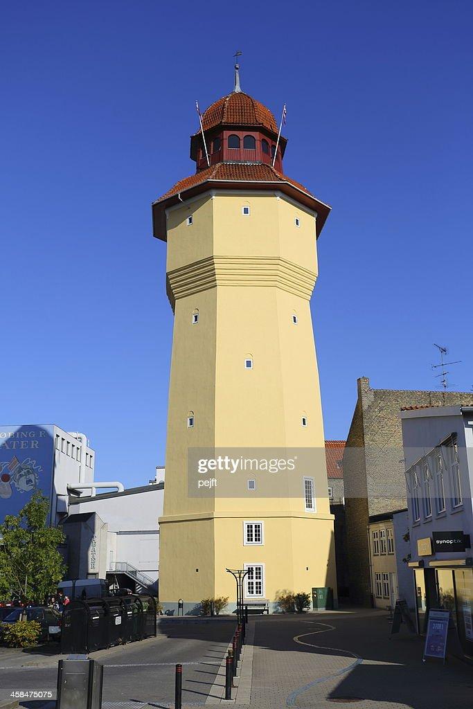 Nykoebing Falster Water tower : Stock Photo