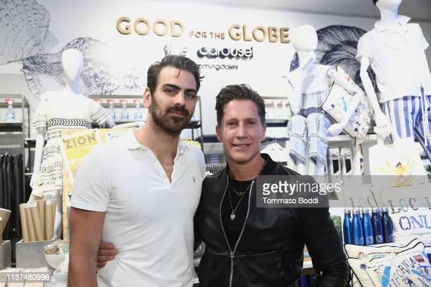Nyle DiMarco and Bruce Bozzi attend the Bloomingdale's Century City Launches Good For The Globe at Bloomingdale's on March 21 2019 in Century City...