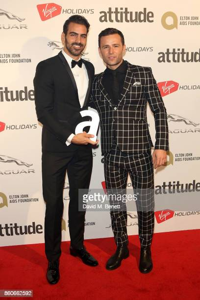 Nyle DiMarco and Harry Judd attends the Attitude Awards 2017 at The Roundhouse on October 12 2017 in London England