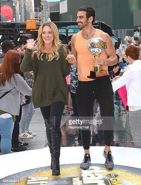 Nyle DiMarco and Peta Murgatroyd are seen on the set of Good Morning America on May 25 2016 in New York City