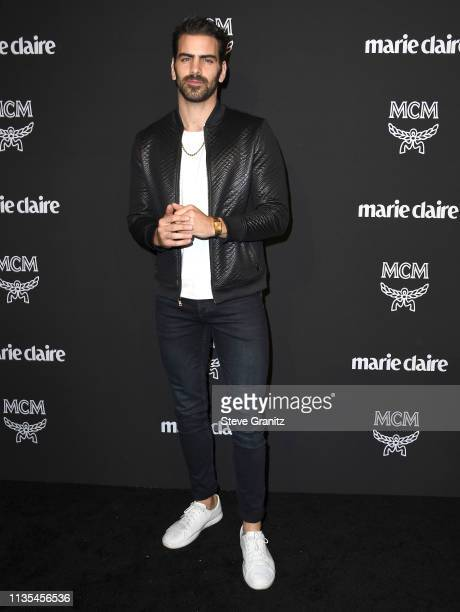 Nyle DiMarco arrives at the Marie Claire Change Makers Celebration at Hills Penthouse on March 12 2019 in West Hollywood California