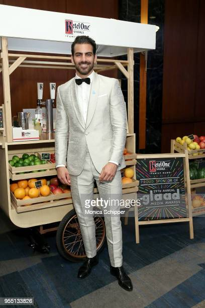 Nyle DiMarco enjoying a Ketel Soda cocktail at the Ketel Market at the 29th Annual GLAAD Media Awards New York in partnership with longstanding LGBTQ...