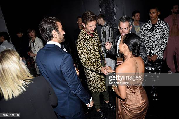 Nyle DiMarco Karrueche Tran and Francisco Lachowski attend the 7th Annual amfAR Inspiration Gala at Skylight at Moynihan Station on June 9 2016 in...