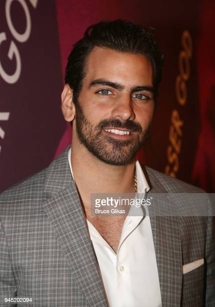 Nyle DiMarco poses at the opening night of the play 'Children of a Lesser God' on Broadway at Studio 54 on April 11 2018 in New York City