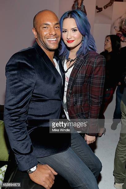 Nylon associate publisher Karim Abay and actress Demi Lovato attend NYLON McDonald's Dec/Jan issue launch party hosted by cover star Demi Lovato on...
