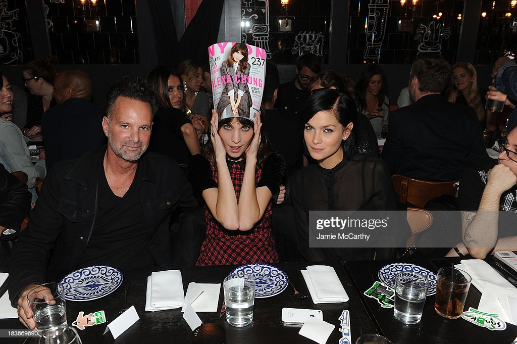 Nylon Editor-in-Chief Marvin Scott Jarrett, Alexa Chung and Leigh Lezark attend NYLON + Sanuk celebrate the October 'It Girl' issue with cover star Alexa Chung at La Cenita on October 8, 2013 in New York City.
