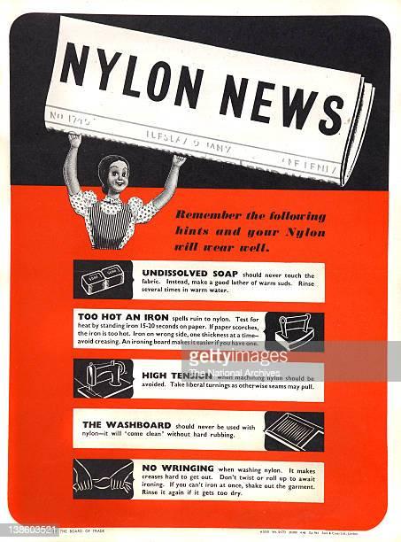 Nylon News poster with Mrs SewandSew 1946