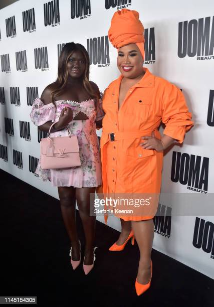 Nyma Tang and Patrick Starrr attend UOMA Beauty Launch Event at NeueHouse Hollywood on April 25, 2019 in Los Angeles, California.