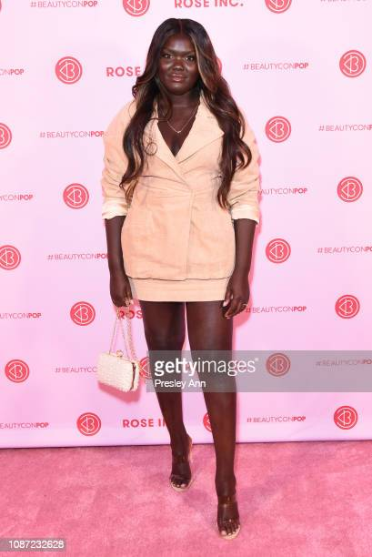 Nyma Tang attends Rose Inc x Beautycon POP Intimate Dinner With Rosie HuntingtonWhiteley on January 17 2019 in Los Angeles California