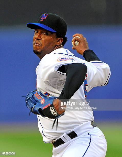 Mets vs Texas Rangers at Shea Stadium. Game-2 of a doubleheader., New York Mets starting pitcher Pedro Martinez