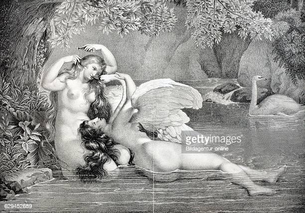 Nymphs anonymous german lithograph circa 1850