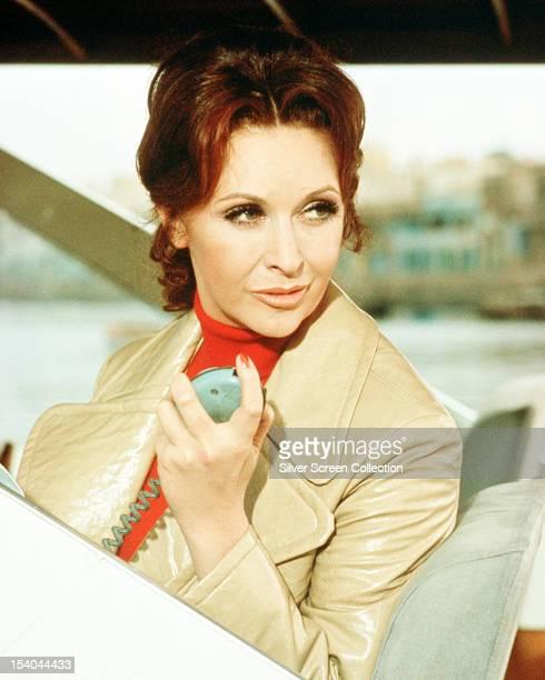 Nyree Dawn Porter as the Contessa Caroline di Contini in the British television series 'The Protectors' circa 1973