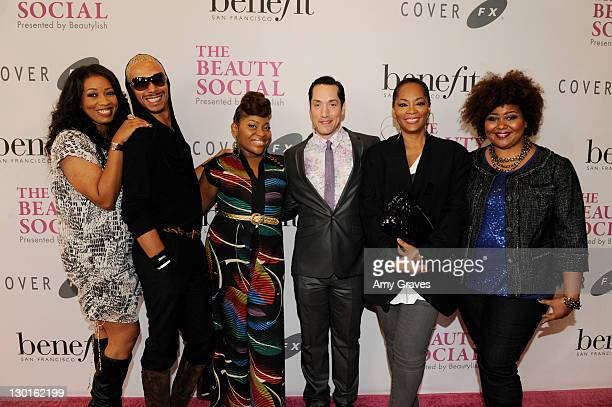 Nyssa Green, Sean Cameron, Dre Brown, Jeffrey Paul, Jodie Watley and Patrice Grell Yursik attend The Beauty Social Presented by Beautylish - Day2 at...
