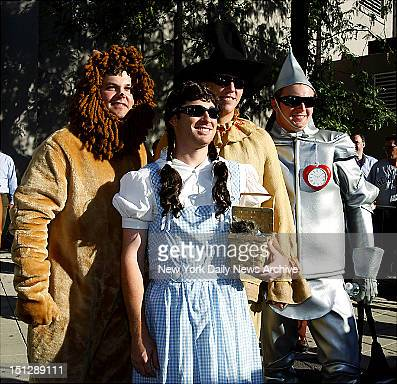 NYYankees rookies dressed up as Wizard of Oz characters for their annual rookie hazing Joba Chamberlain Ian Kennedy Shelley Duncan and Phil Hughes