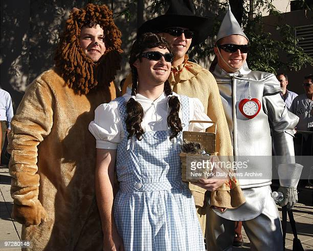 Yankees rookies dressed up as Wizard of Oz characters for their Yankees Annual Rookie Hazing Joba Chamberlain Ian Kennedy Shelley Duncan and Phil...