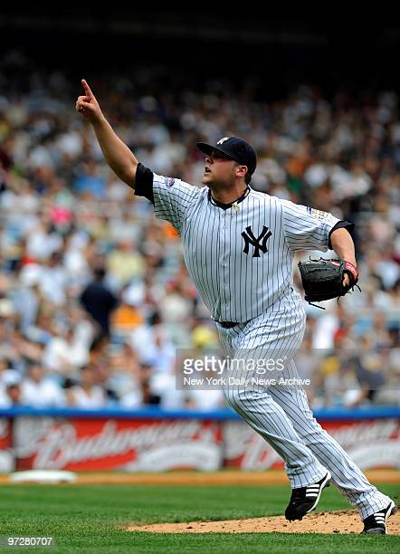 Yankees vs Kansas City Royals at Yankee Stadium., Yanks pitcher Joba Chamberlain makes his 2nd major league start. ?