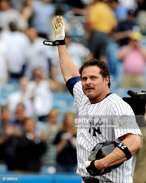 Yankees vs Toronto Blue Jays Yankee Stadium., Yanks Jason Giambi hits a pinch-hit, 2 run homer in the bottom of the 9th scoring Hideki Matsui, to win...