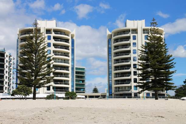 NZs twin towers Mount Maunganui NZ.