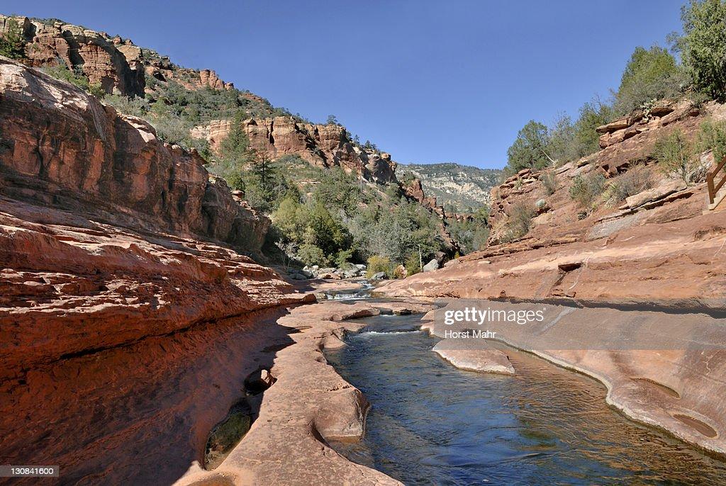 Oak Creek, Slide Rock State Park, Sedona, Red Rock Country, Arizona, USA : Stock Photo
