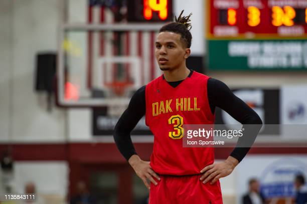 Oak Hill Academy Warriors guard Cole Anthony during the Geico National High School basketball tournament semifinal round game between the LaLumiere...