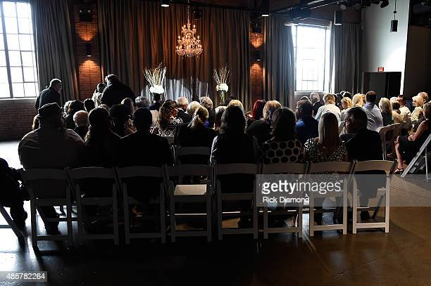 Oak Ridge Boys' William Lee Golden and Simone De Staley wedding on August 29 2015 at The Rosewall in Nashville Tennessee