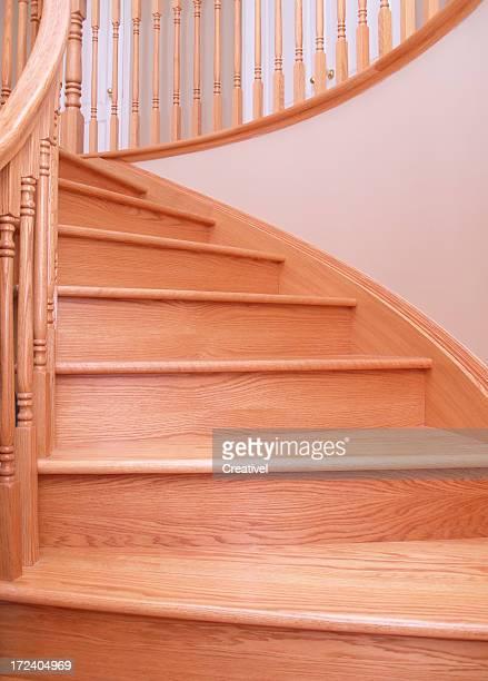 oak stairs - part of circular oak staircase